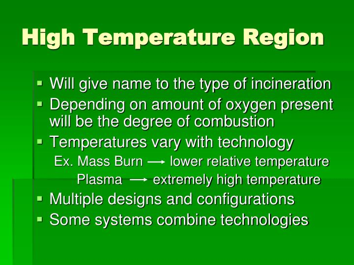 High Temperature Region