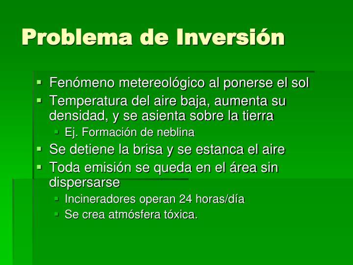 Problema de Inversión