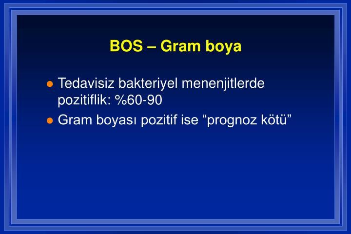BOS – Gram boya