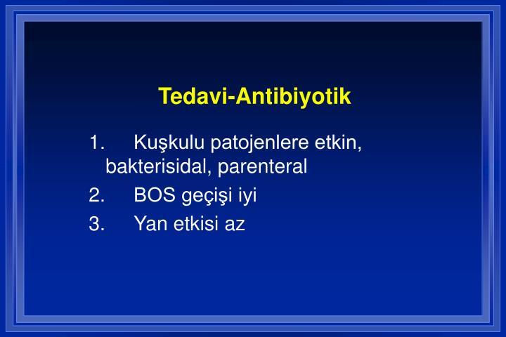 Tedavi-Antibiyotik