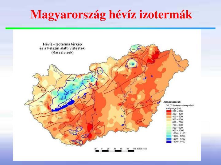 Magyarország hévíz izotermák