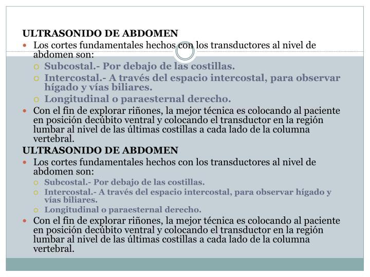ULTRASONIDO DE ABDOMEN