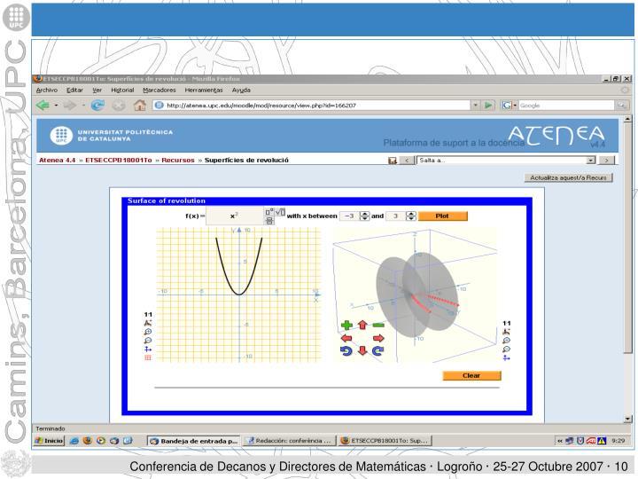 Conferencia de Decanos y Directores de Matemáticas · Logroño · 25-27 Octubre 2007 ·