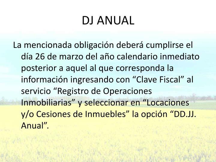 DJ ANUAL