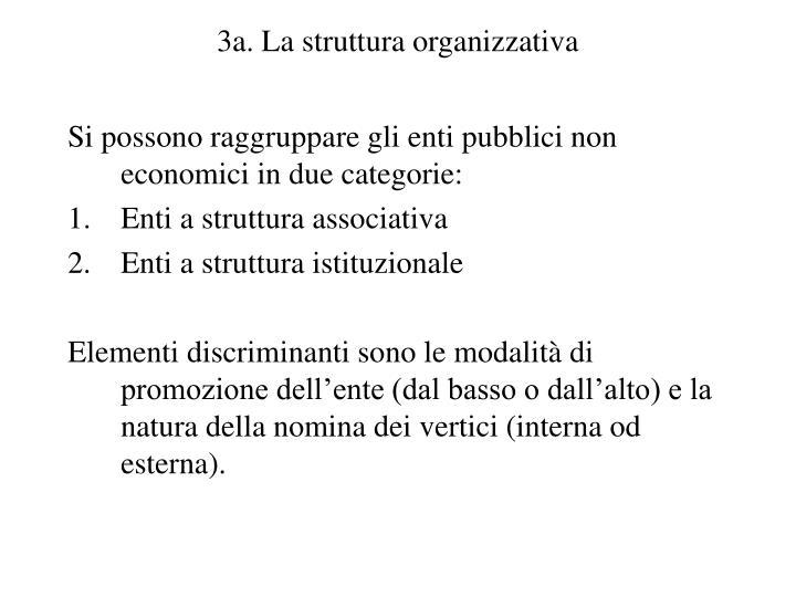 3a. La struttura organizzativa