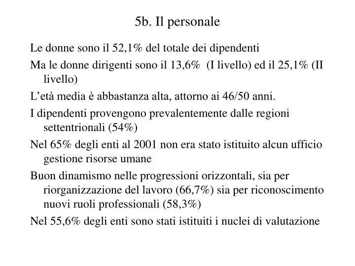 5b. Il personale