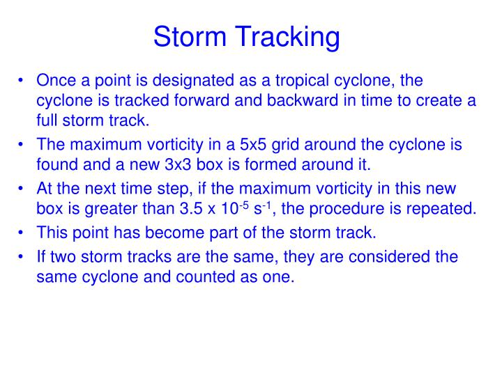 Storm Tracking