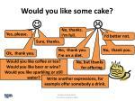 would you like some cake