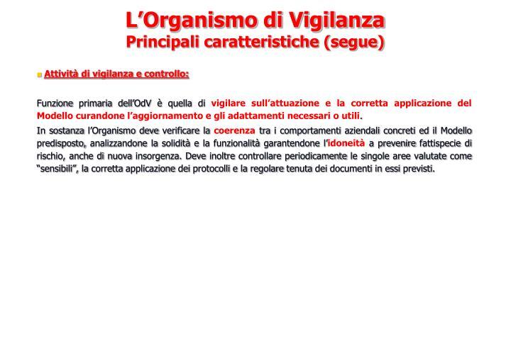 Attività di vigilanza e controllo: