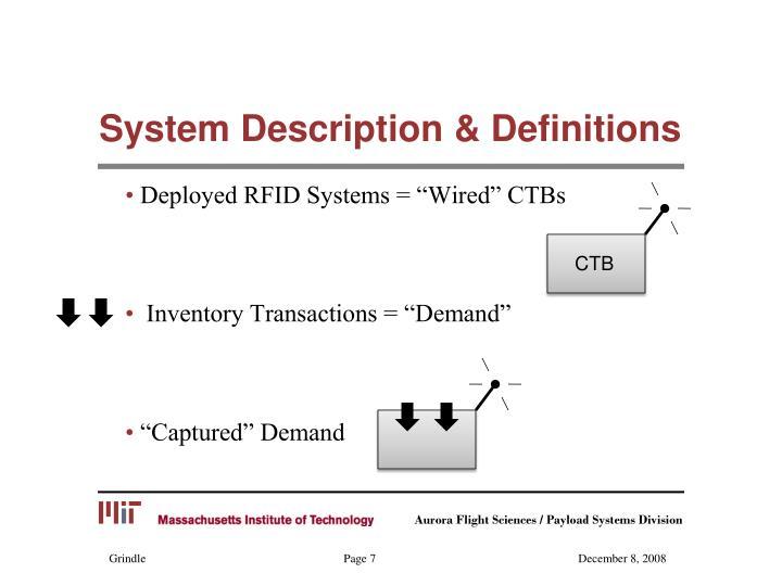 System Description & Definitions