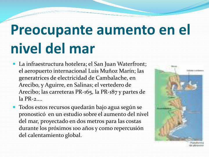 Preocupante aumento en el nivel del mar