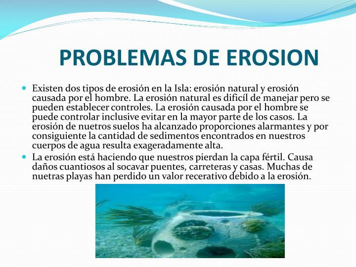 PROBLEMAS DE EROSION