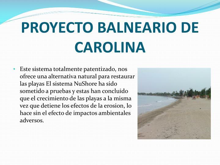 PROYECTO BALNEARIO DE CAROLINA