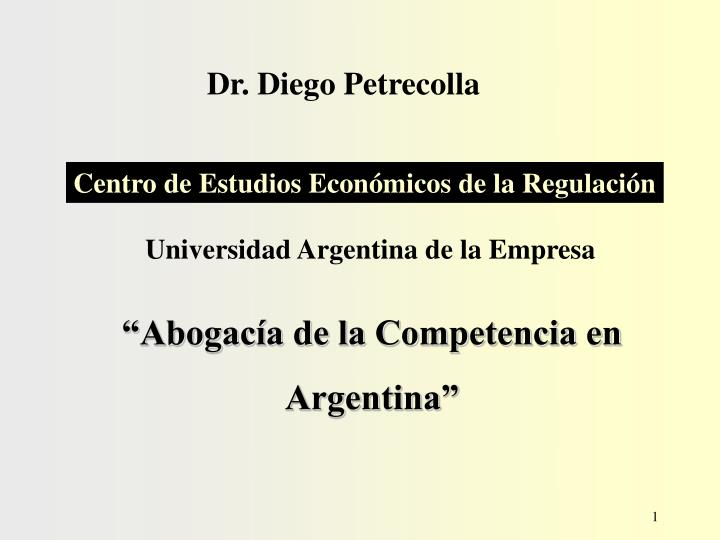 Dr. Diego Petrecolla