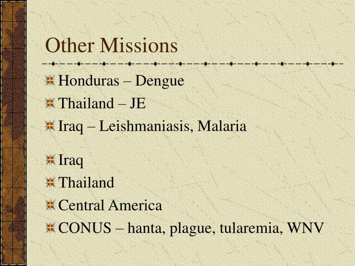 Other Missions