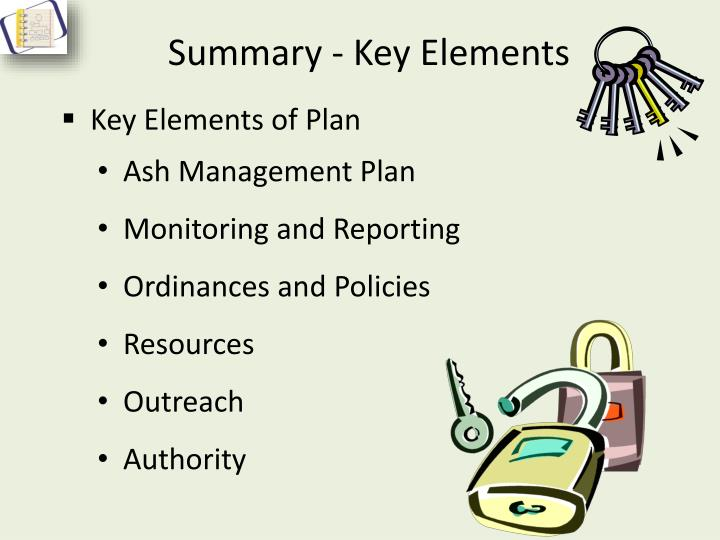 Summary - Key Elements