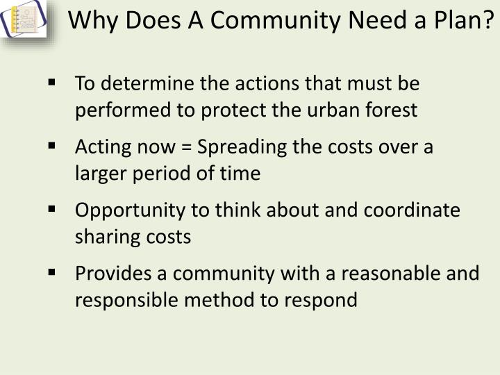 Why Does A Community Need a Plan?