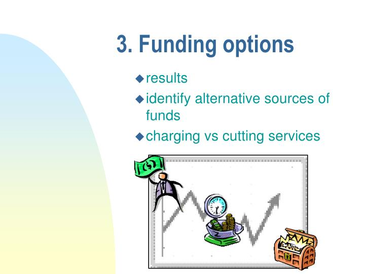 3. Funding options