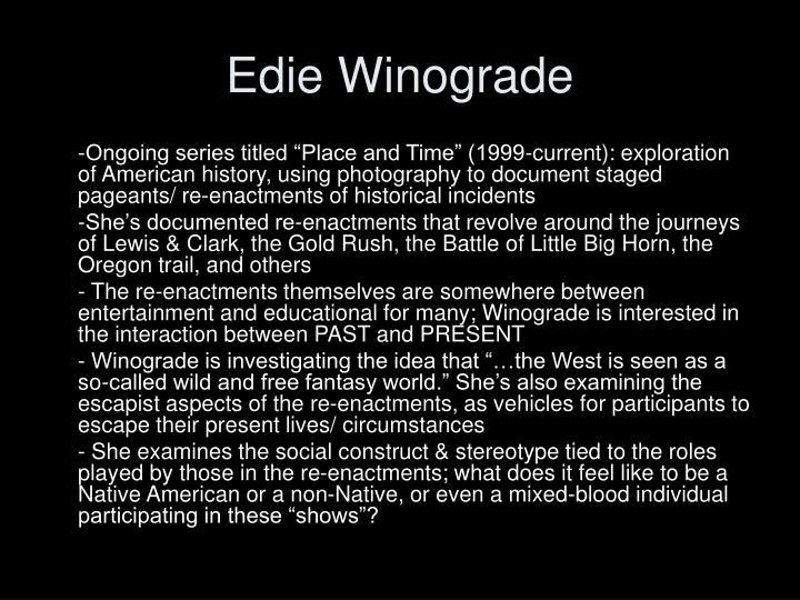 Edie Winograde