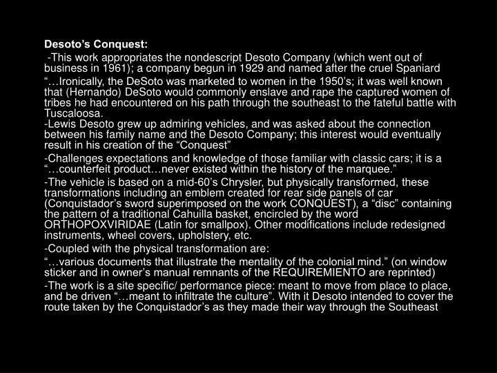 Desoto's Conquest: