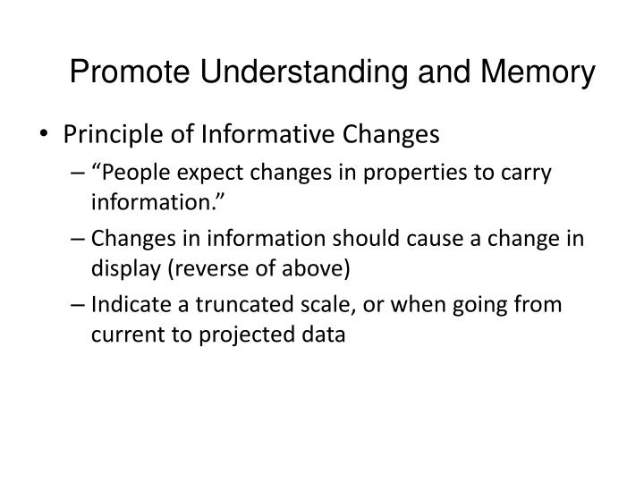 Promote Understanding and Memory