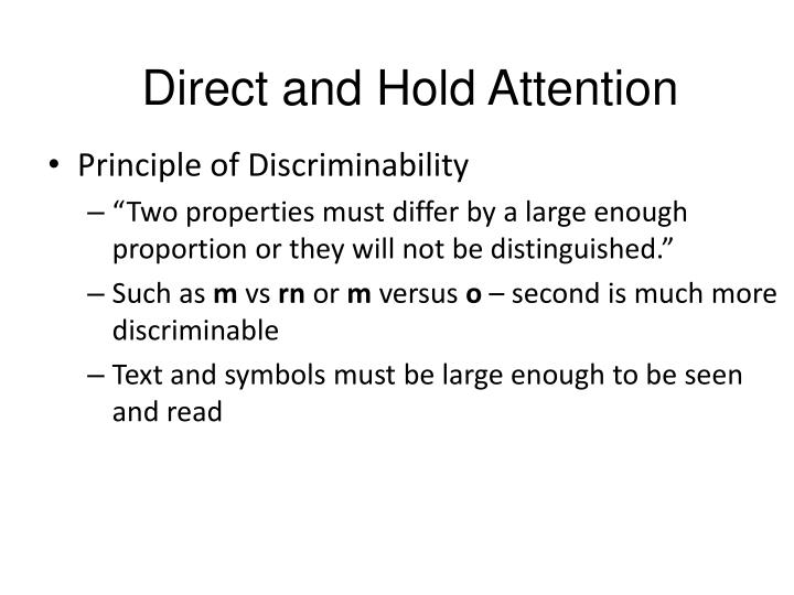 Direct and Hold Attention