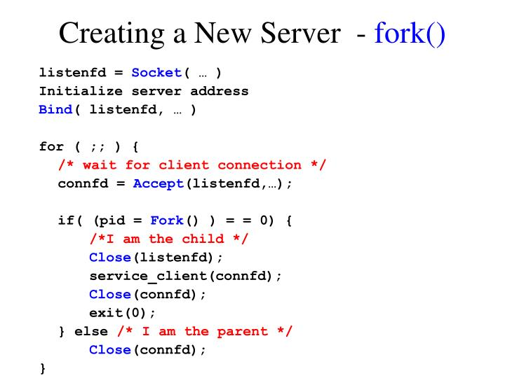 Creating a New Server  -