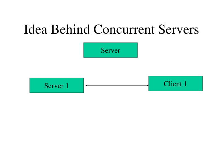 Idea behind concurrent servers1
