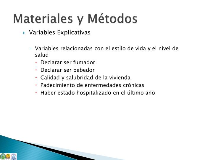 Variables Explicativas