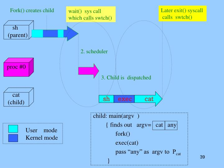 Fork() creates child