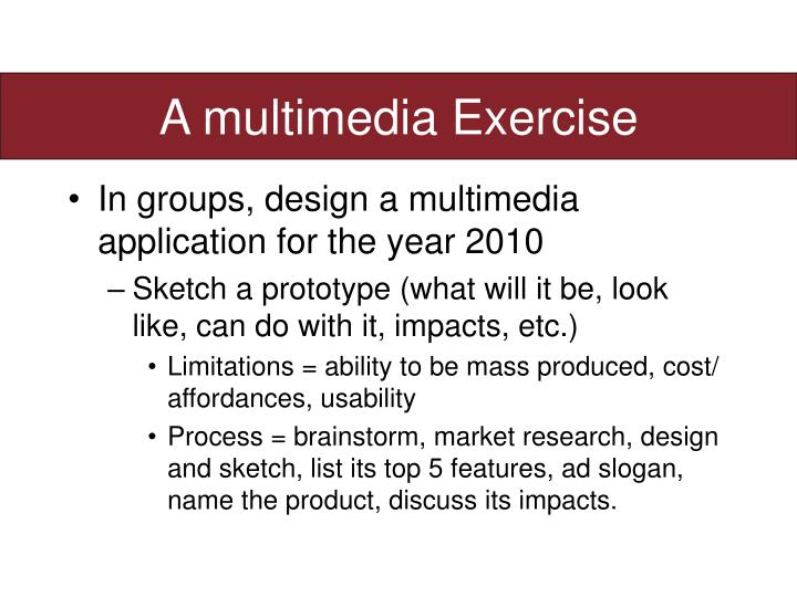A multimedia Exercise