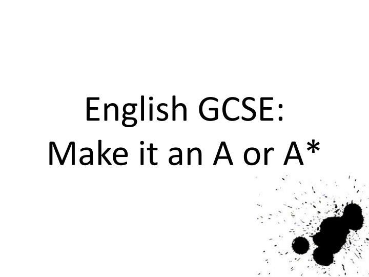 English GCSE: