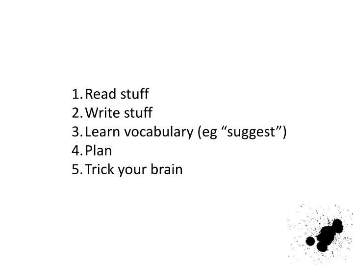 Read stuff