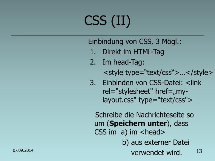 CSS (II)