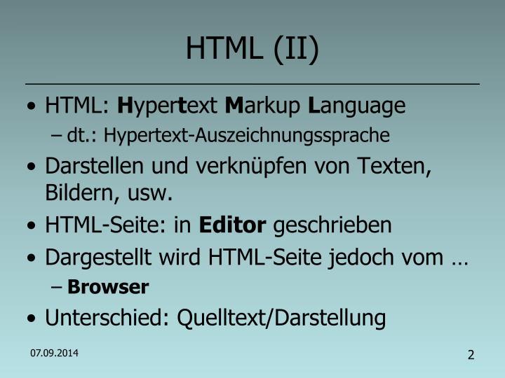 HTML (II)
