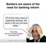 bankers are aware of the need for banking reform