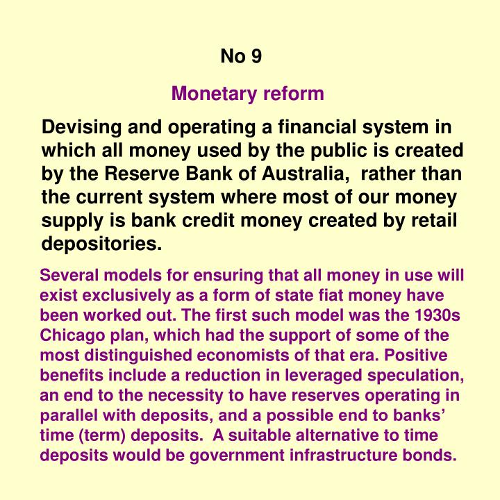 Monetary reform