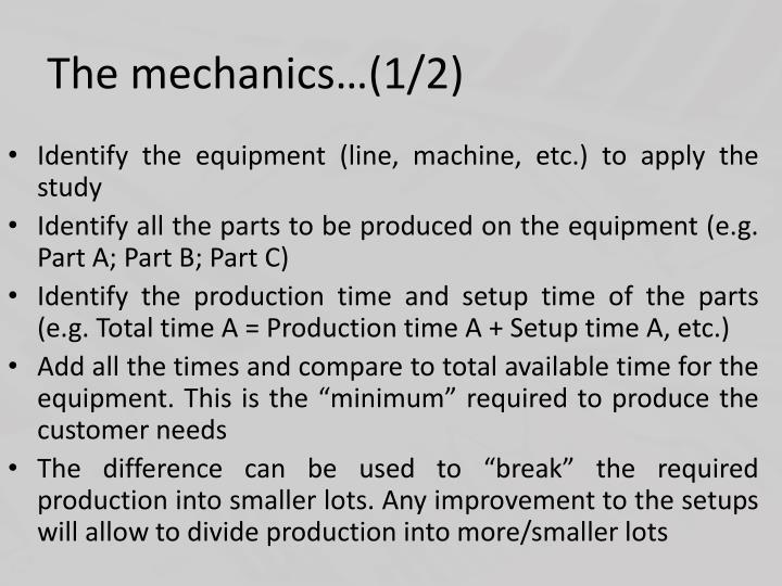 The mechanics…(1/2)
