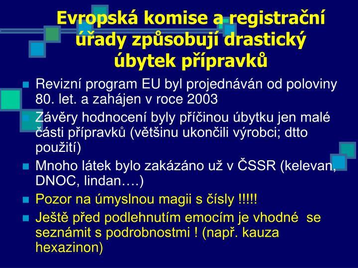 Evropská komise a registrační úřady způsobují drastický úbytek přípravků