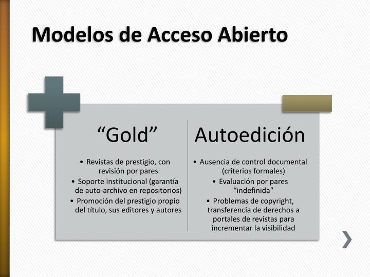 Modelos de Acceso Abierto