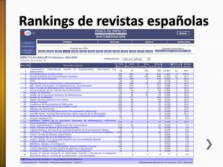 Rankings de