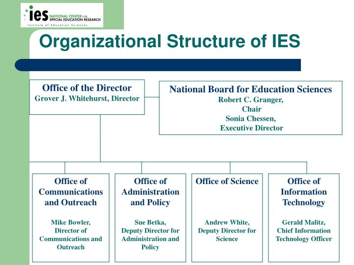 Organizational Structure of IES