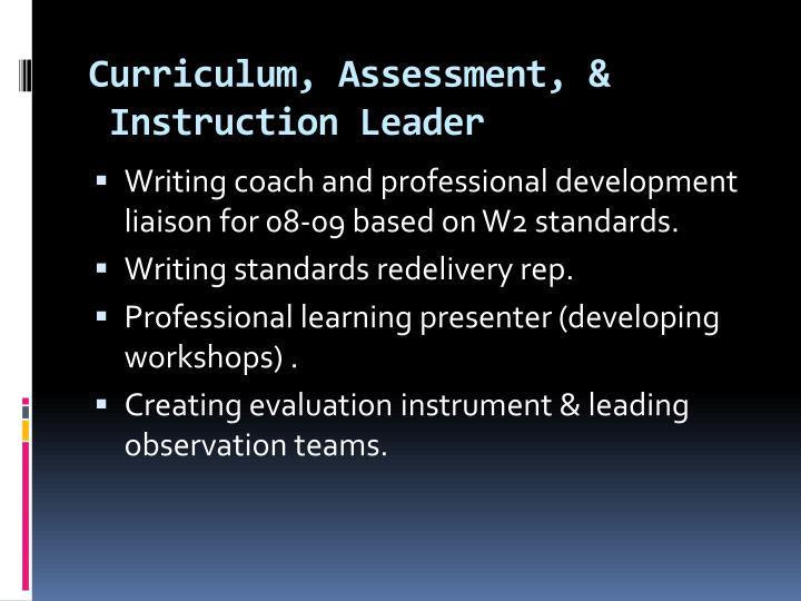 Curriculum, Assessment