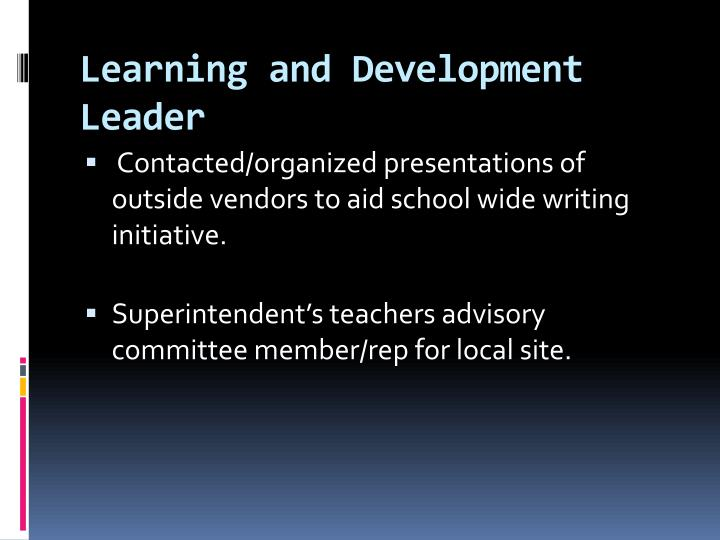 Learning and Development Leader