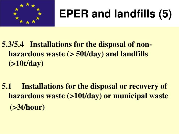 EPER and landfills (5)
