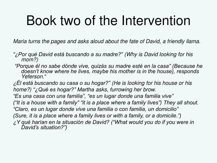 Book two of the Intervention