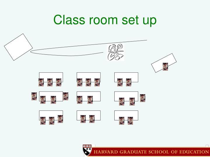 Class room set up