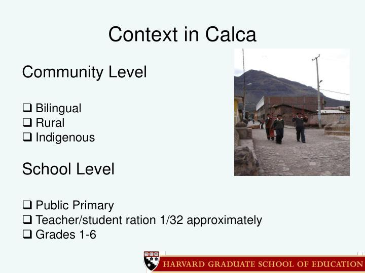 Context in Calca