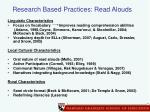 research based practices read alouds
