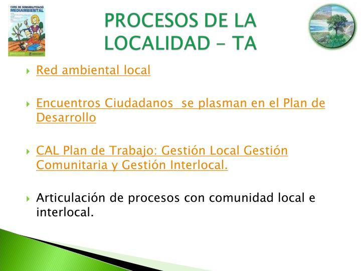 Red ambiental local